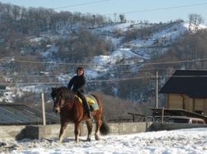 Даша и Хамер. Снег непомеха.