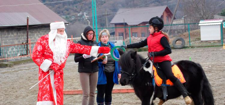 10 января в иппоцентре «Маргарита» прошли соревнования на приз «Деда Мороза».